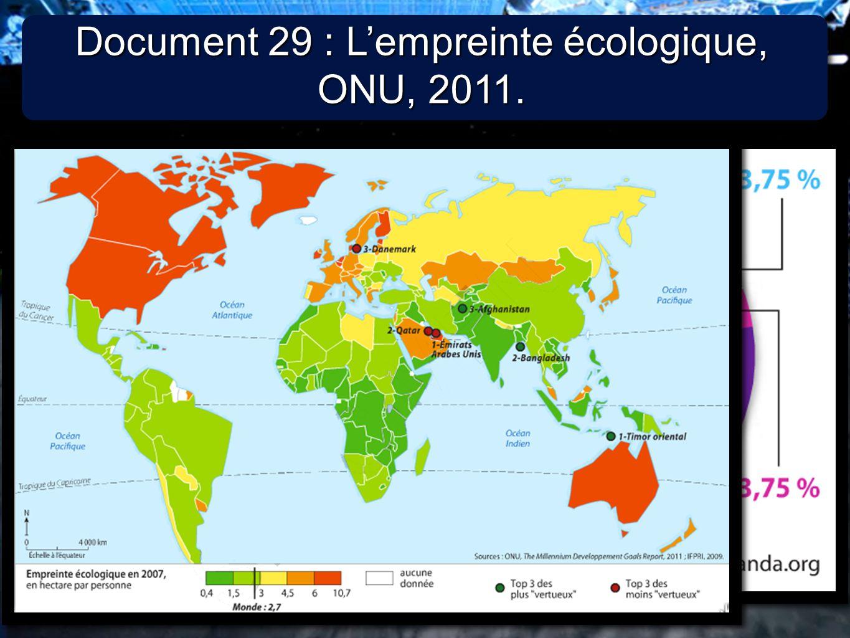 4 4 Document 30 : Lindice de performance environnementale, Université Yale, 2011.