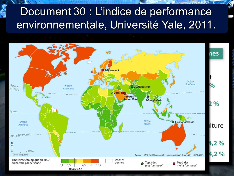 5 5 C / Des indicateurs environnementaux fiables ?