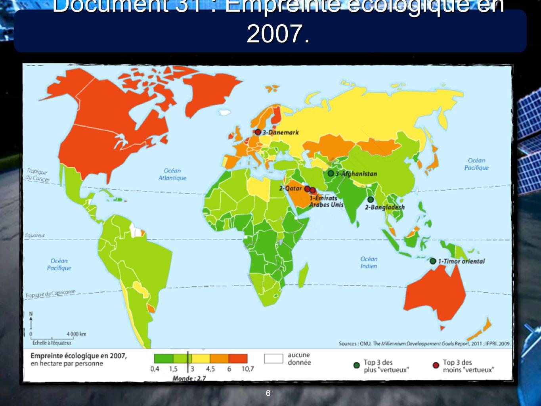 6 6 Document 31 : Empreinte écologique en 2007.
