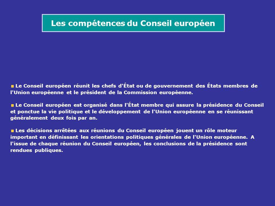 Le Conseil européen réunit les chefs d'État ou de gouvernement des États membres de l'Union européenne et le président de la Commission européenne. Le