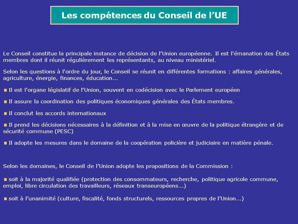 Le Conseil constitue la principale instance de décision de l'Union européenne. Il est l'émanation des États membres dont il réunit régulièrement les r