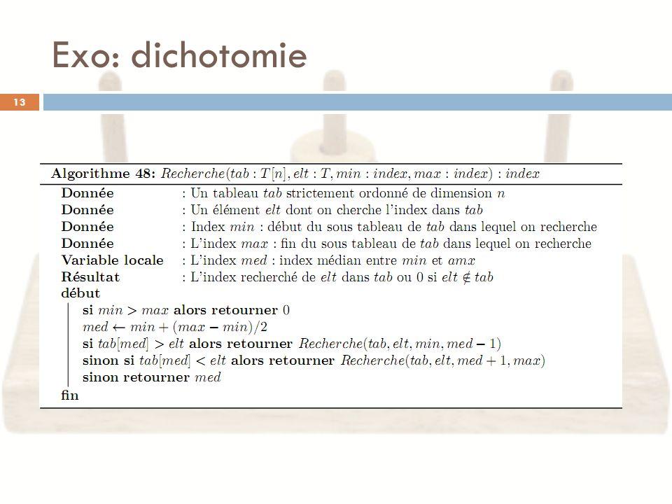 Exo: dichotomie 13
