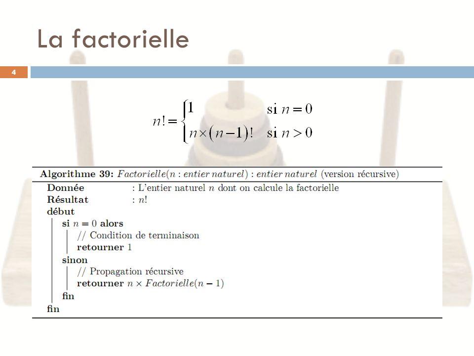 La factorielle 4