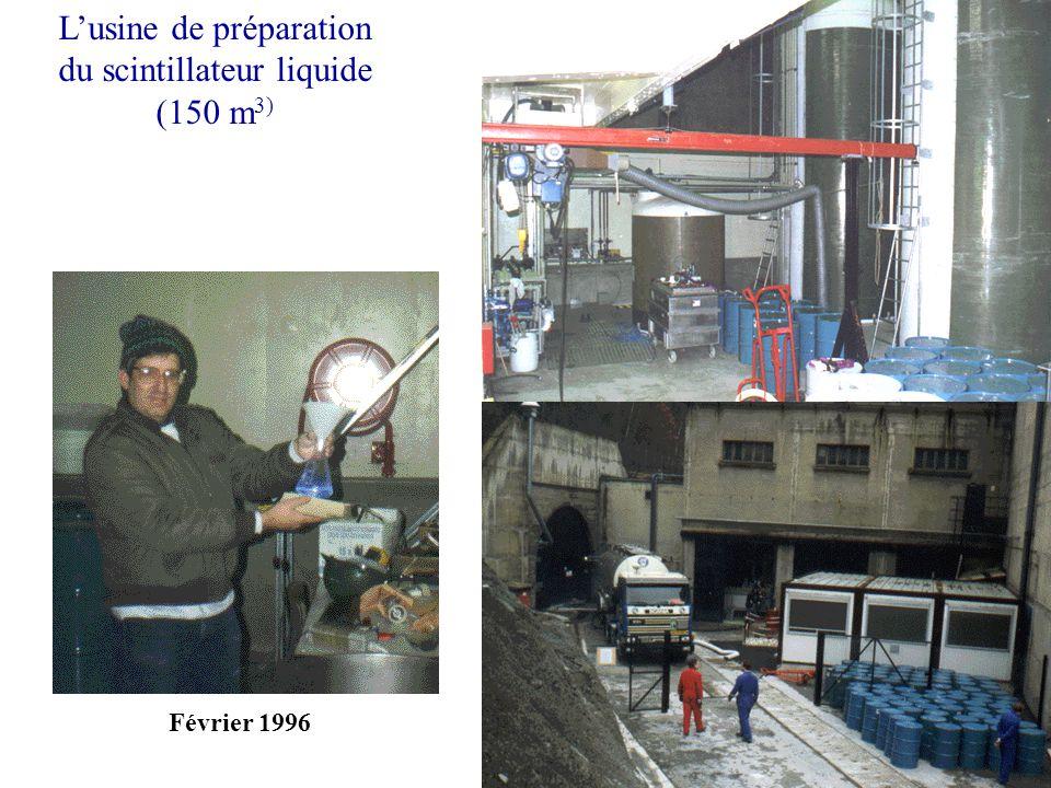 Lusine de préparation du scintillateur liquide (150 m 3) Février 1996