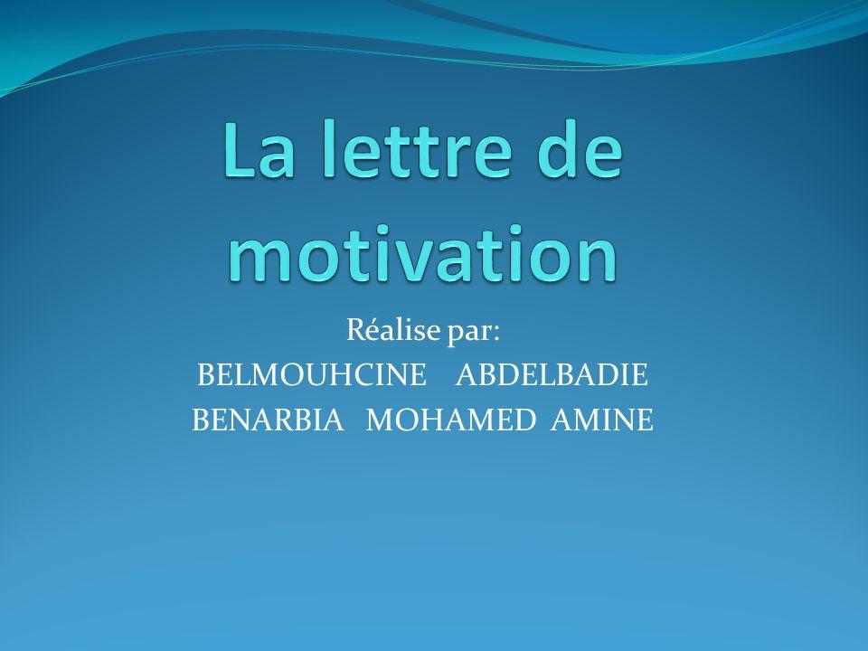 Réalise par: BELMOUHCINE ABDELBADIE BENARBIA MOHAMED AMINE