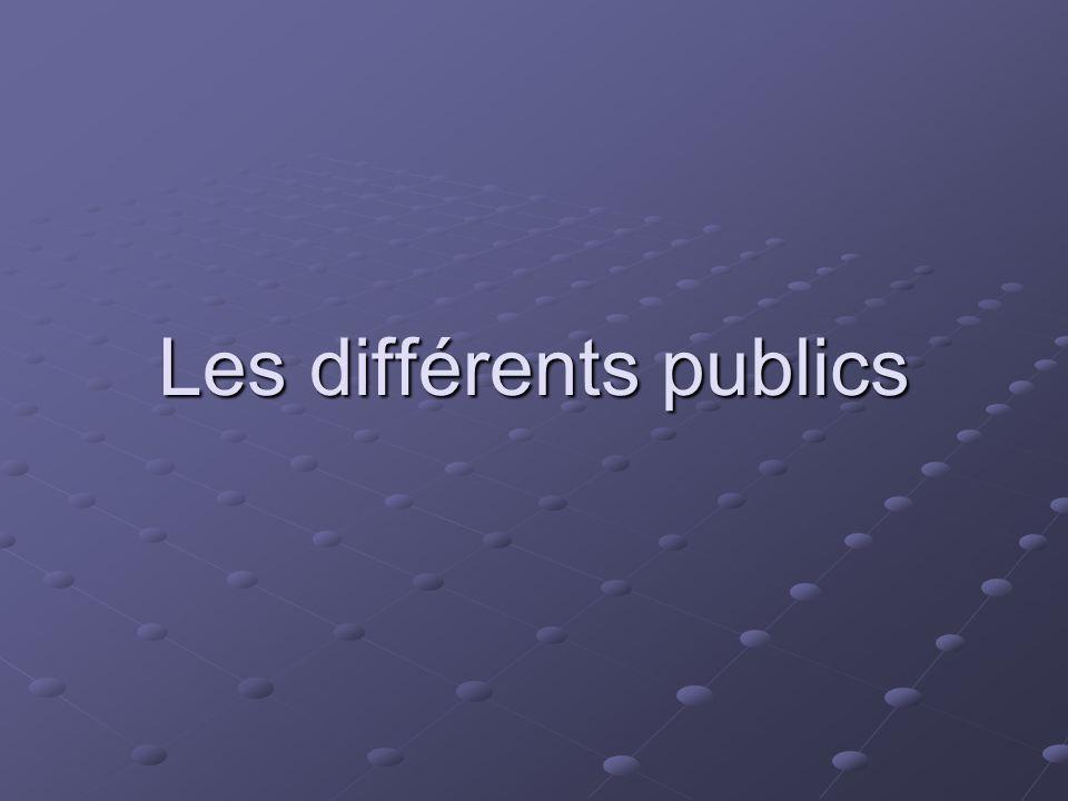 Les différents publics