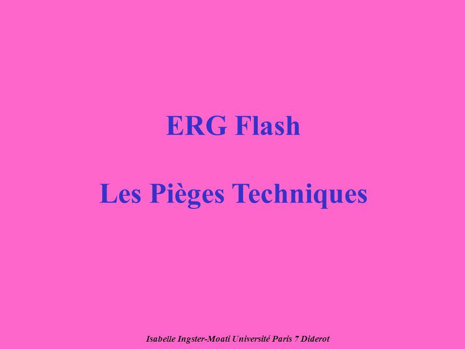 Isabelle Ingster-Moati Université Paris 7 Diderot ERG Flash Les Pièges Techniques