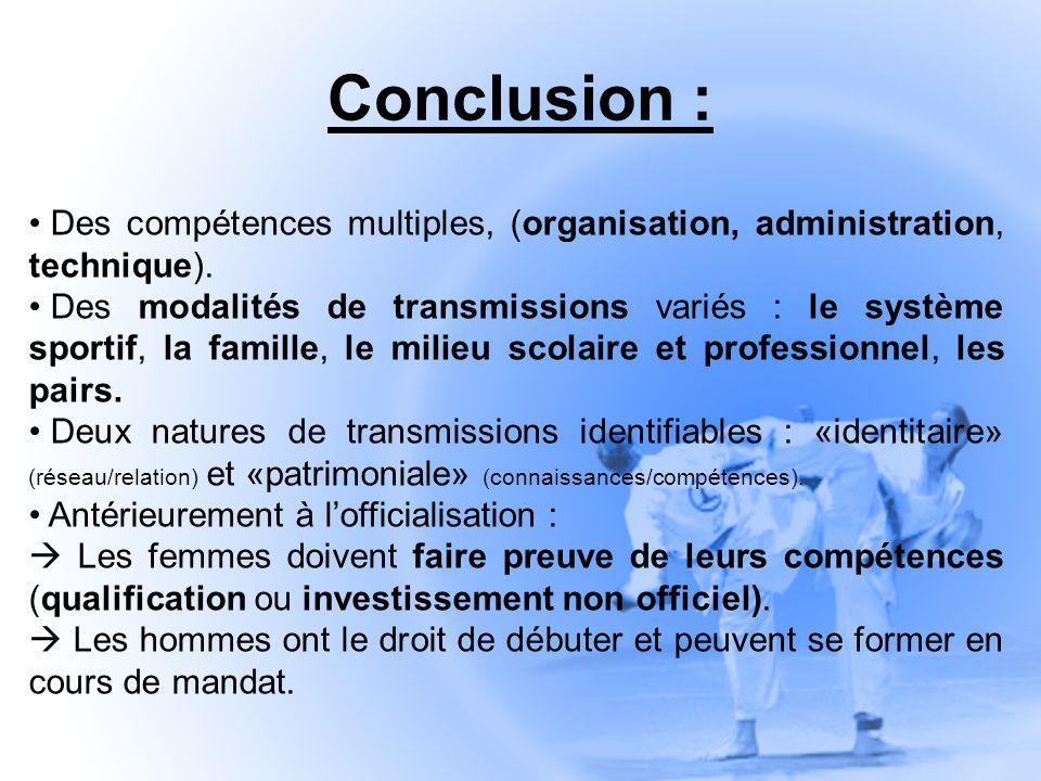 Conclusion : Des compétences multiples, (organisation, administration, technique).