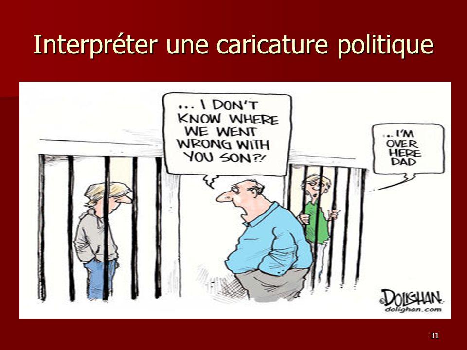 31 Interpréter une caricature politique