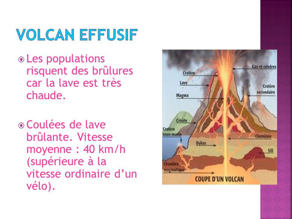 Les populations risquent des brûlures car la lave est très chaude.
