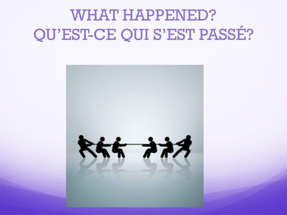 Use the passé composé to describe what people DID and/or WHAT HAPPENED Ils ont tiré sur la corde.