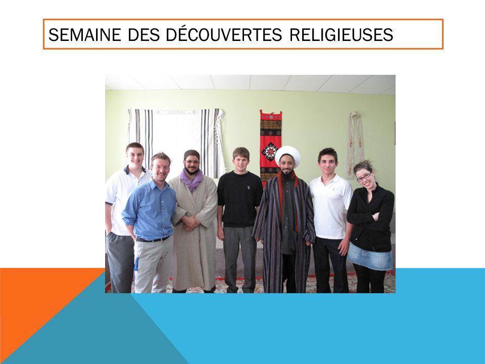 SEMAINE DES DÉCOUVERTES RELIGIEUSES