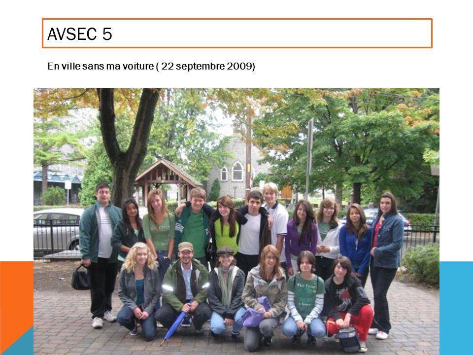 AVSEC 5 En ville sans ma voiture ( 22 septembre 2009)