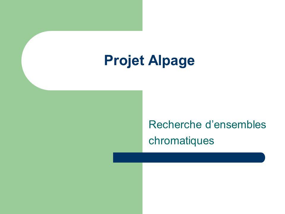 Projet Alpage Recherche densembles chromatiques