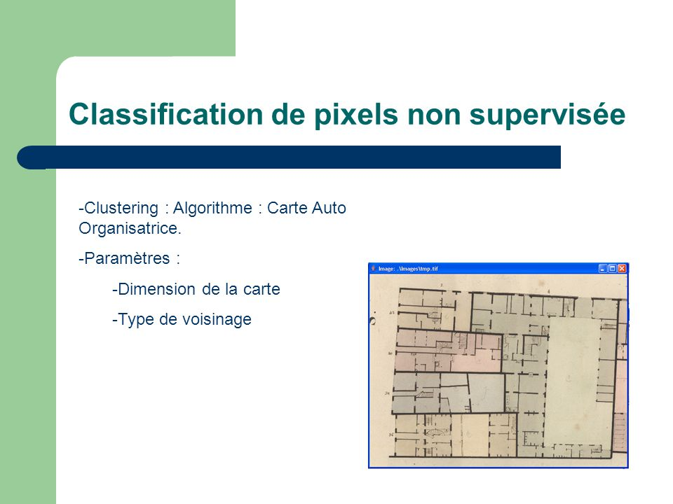 Classification de pixels non supervisée - Carte init aléatoire : Carte final : Algo a convergé :