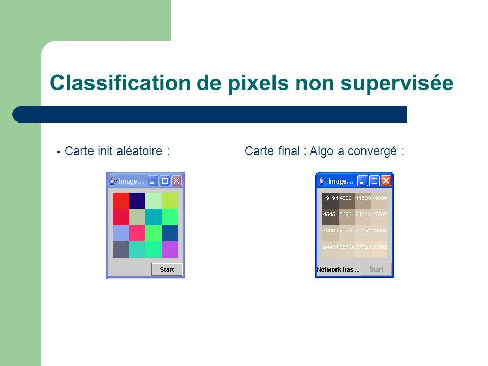 Classification de pixels non supervisée - Carte init aléatoire : Carte final : Algo a convergé :