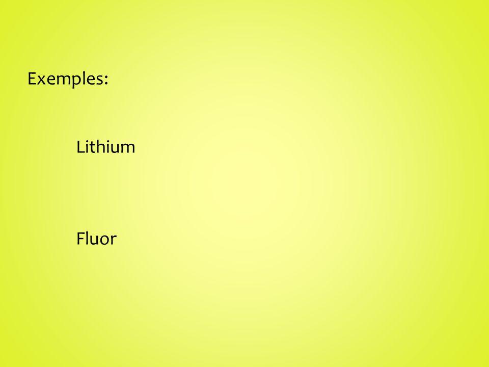 Exemples: Lithium Fluor