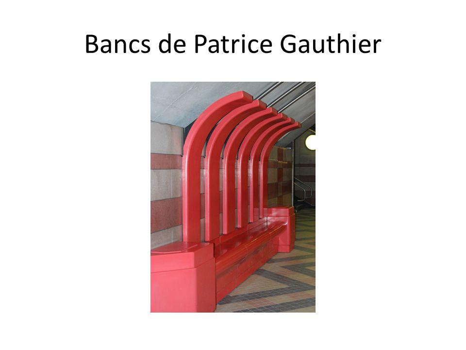 Bancs de Patrice Gauthier