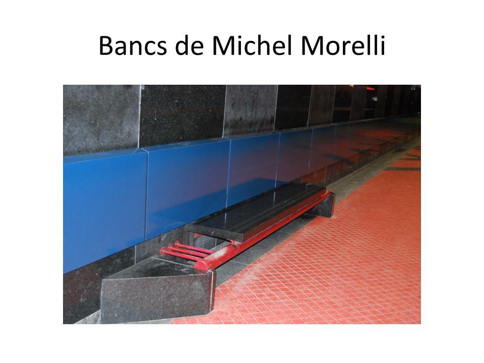 Bancs de Michel Morelli