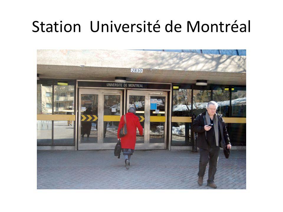 Station Université de Montréal