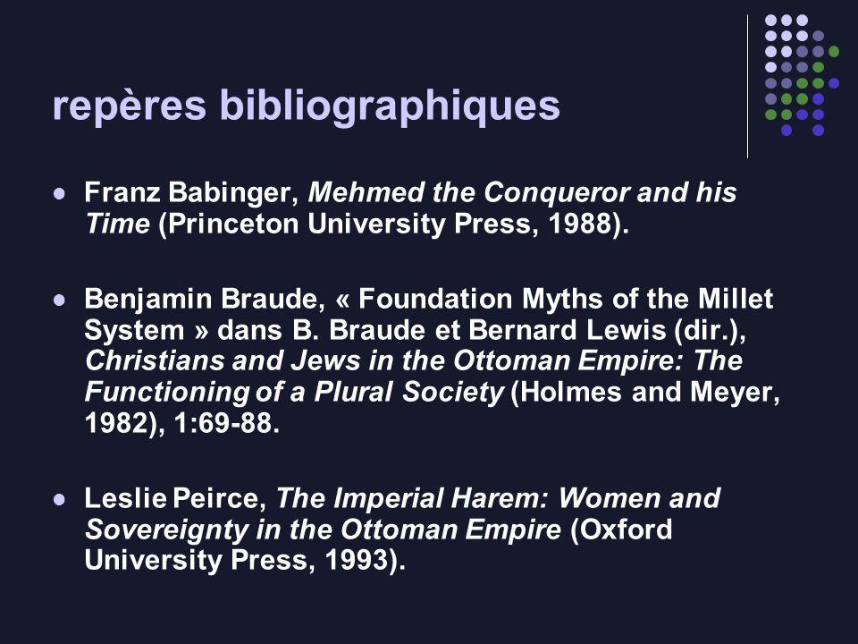 repères bibliographiques Franz Babinger, Mehmed the Conqueror and his Time (Princeton University Press, 1988).