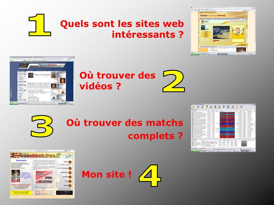 Quels sont les sites web intéressants ? Où trouver des vidéos ? Où trouver des matchs complets ? Mon site !