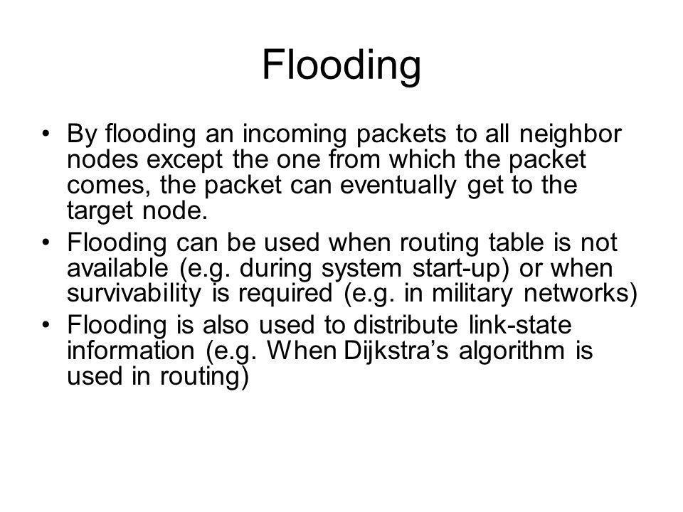 Le routage dans les réseaux non connectés Routage aléatoire (dirigé) Inondation Mesure du temps retour Algorithmes intelligents