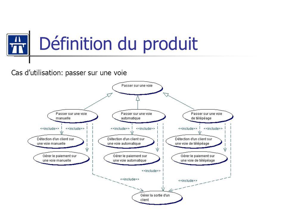 Définition du produit Cas dutilisation: passer sur une voie