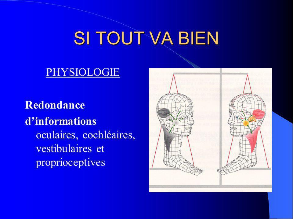 CONCLUSION Le système déquilibration multi-sensoriel est vraiment un « SIXIEME SENS »