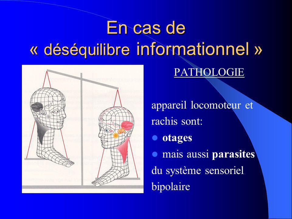 SI TOUT VA BIEN PHYSIOLOGIE Redondance dinformations oculaires, cochléaires, vestibulaires et proprioceptives