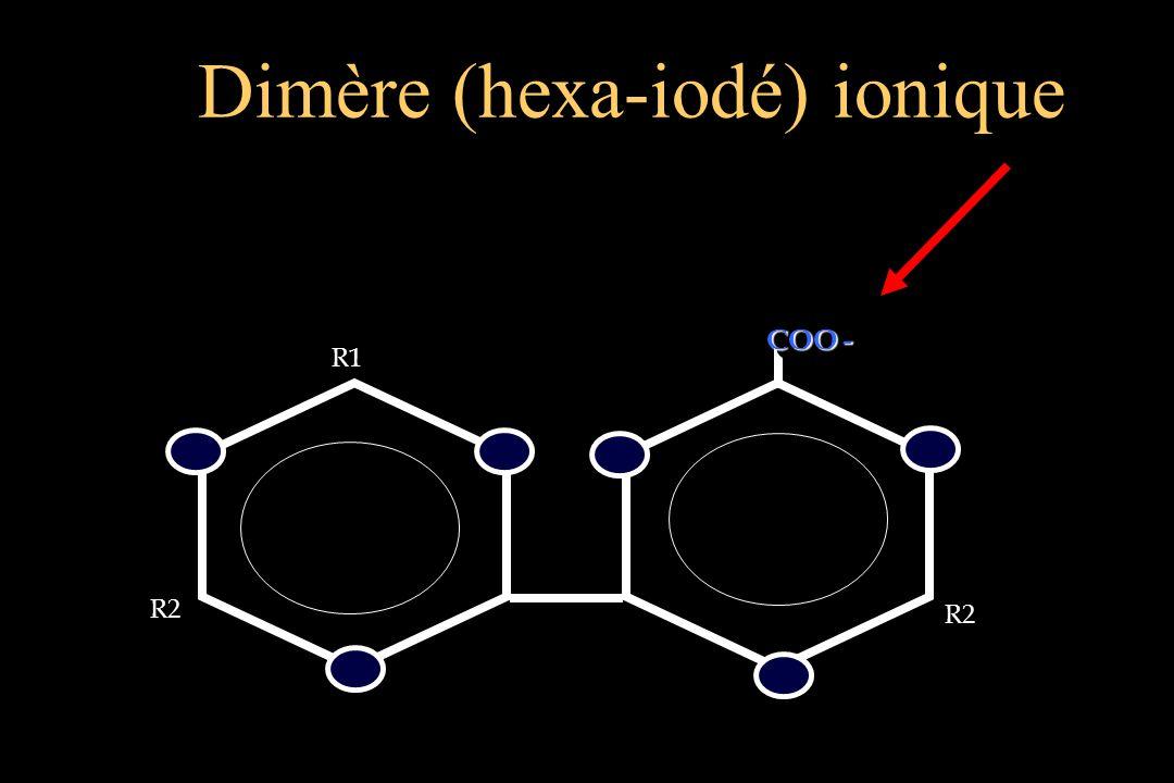 R2 R2 COO - COO - R1 Dimère (hexa-iodé) ionique