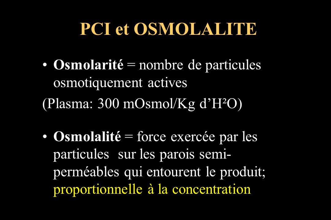 Osmolarité = nombre de particules osmotiquement actives (Plasma: 300 mOsmol/Kg dH²O) Osmolalité = force exercée par les particules sur les parois semi