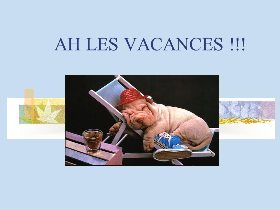 AH LES VACANCES !!!