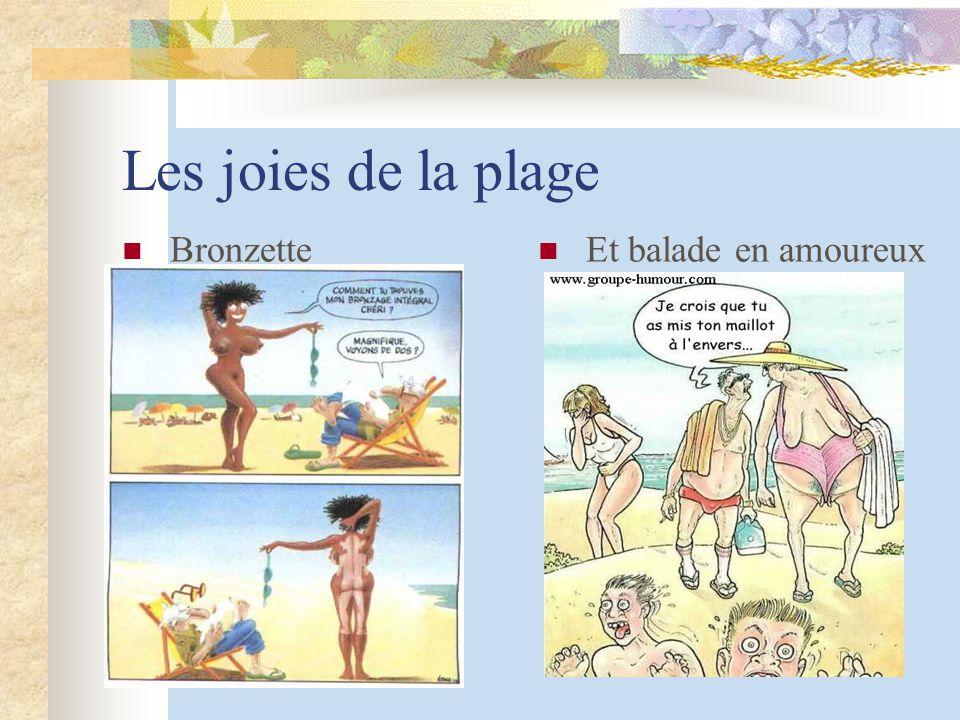 Les joies de la plage Bronzette Et balade en amoureux