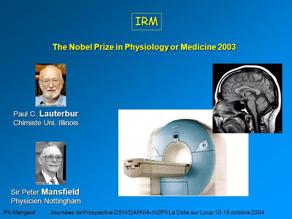 Ph.Mangeot Journées de Prospective DSM/DAPNIA-IN2P3 La Colle sur Loup 10-15 octobre 2004 Glossaire CT : Computerized Tomography (Scanner X) TEP : Tomographe à Émission de positron (PET) TEMP : Tomographe à Émission MonoPhotonique (SPECT) IRM : Imagerie par Résonance Magnétique (MRI)