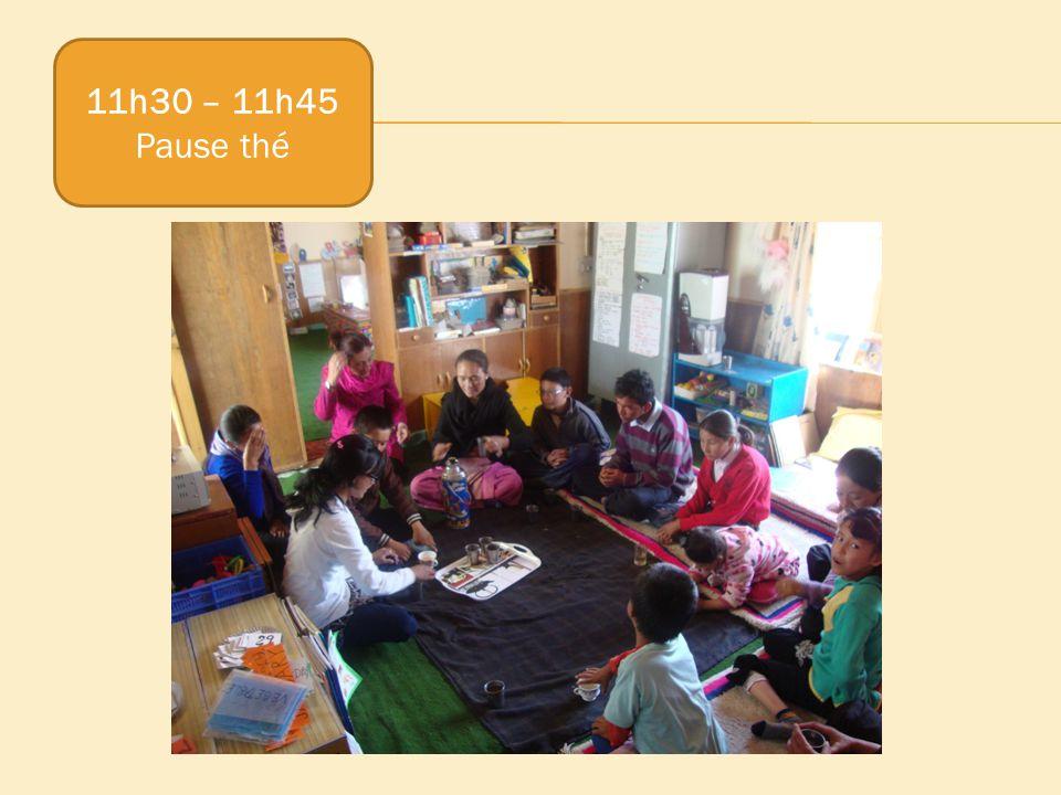 11h30 – 11h45 Pause thé