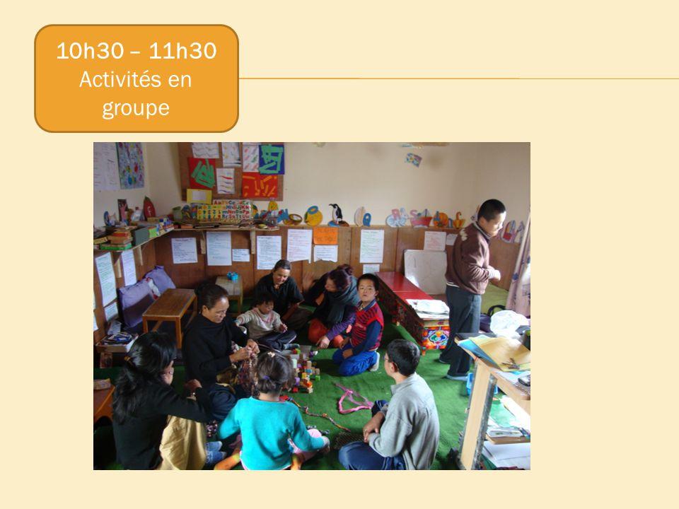 10h30 – 11h30 Activités en groupe