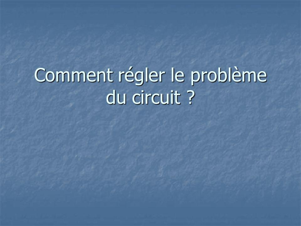 Comment régler le problème du circuit ?