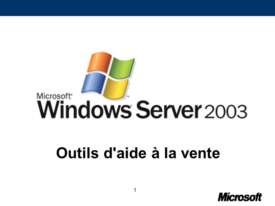 32Confidentiel Microsoft pour les Partenaires Exemple de situation de stress : Windows Server 2003 1.