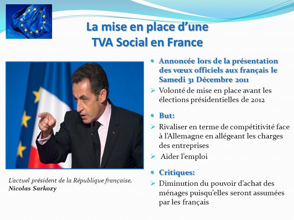 Annoncée lors de la présentation des vœux officiels aux français le Samedi 31 Décembre 2011 Annoncée lors de la présentation des vœux officiels aux fr