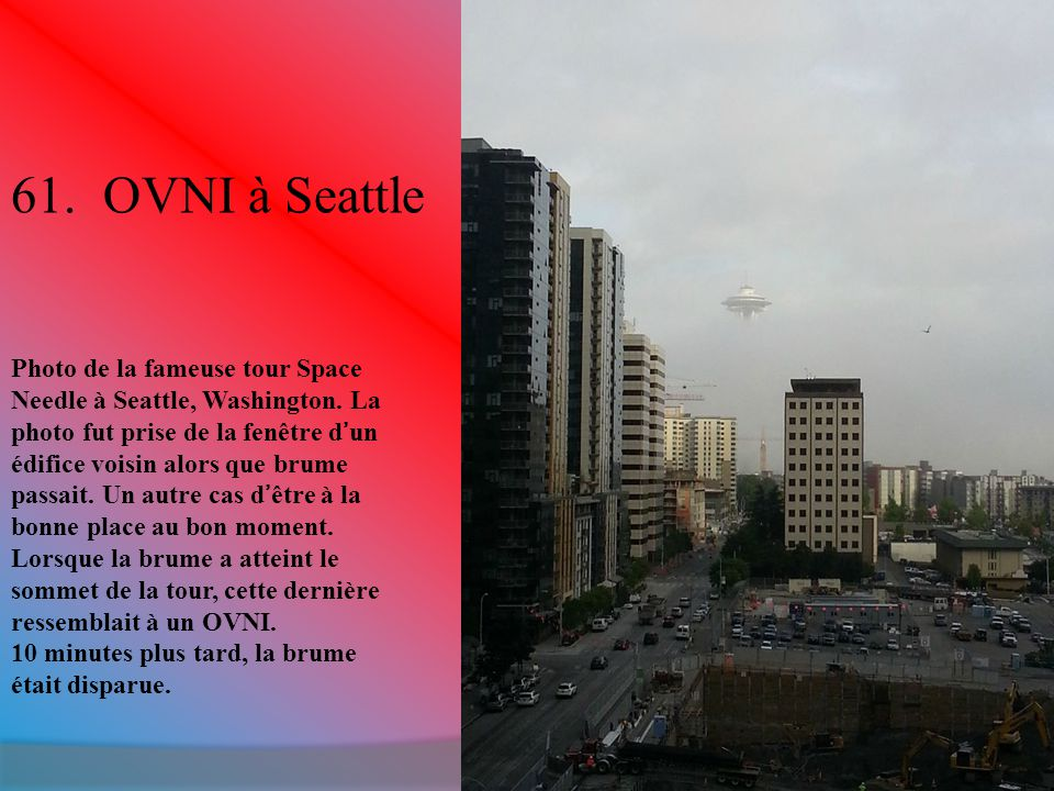 61.OVNI à Seattle Photo de la fameuse tour Space Needle à Seattle, Washington.
