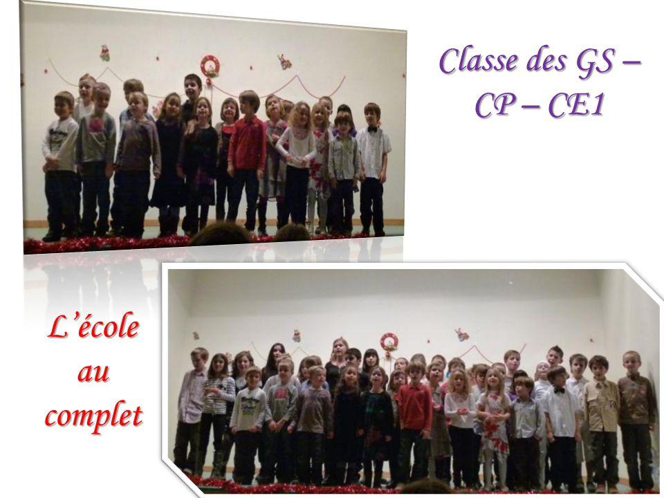Classe des GS – CP – CE1 Lécole au complet