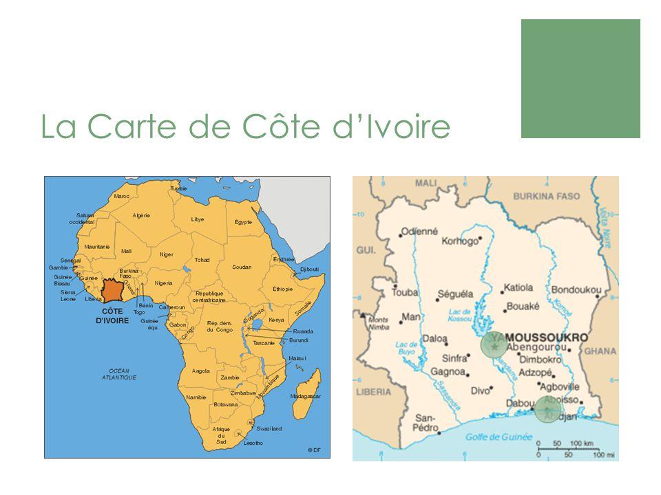 La Carte de Côte dIvoire
