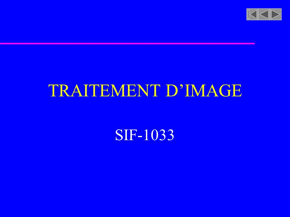 TRAITEMENT DIMAGE SIF-1033