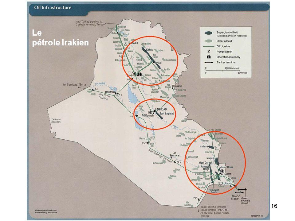 16 Le pétrole Irakien