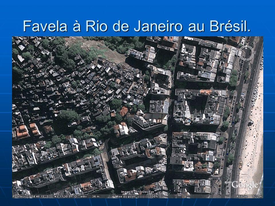 15 Favela à Rio de Janeiro au Brésil.