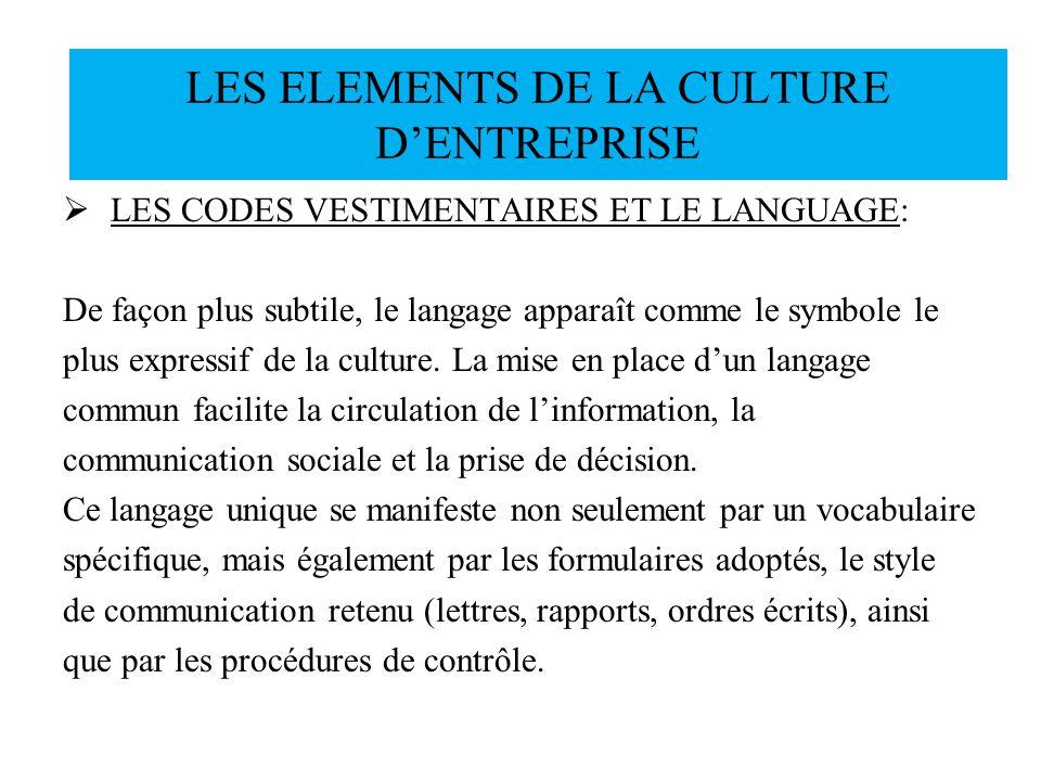 LES CODES VESTIMENTAIRES ET LE LANGUAGE: De façon plus subtile, le langage apparaît comme le symbole le plus expressif de la culture. La mise en place