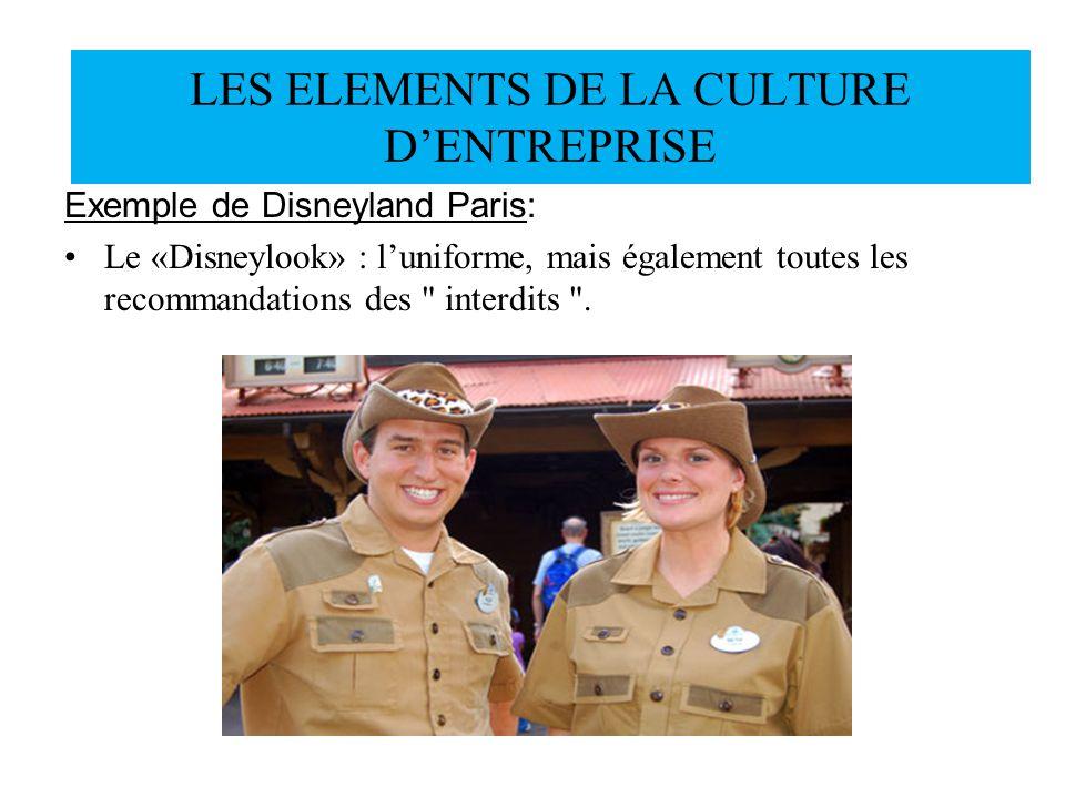Exemple de Disneyland Paris: Le «Disneylook» : luniforme, mais également toutes les recommandations des