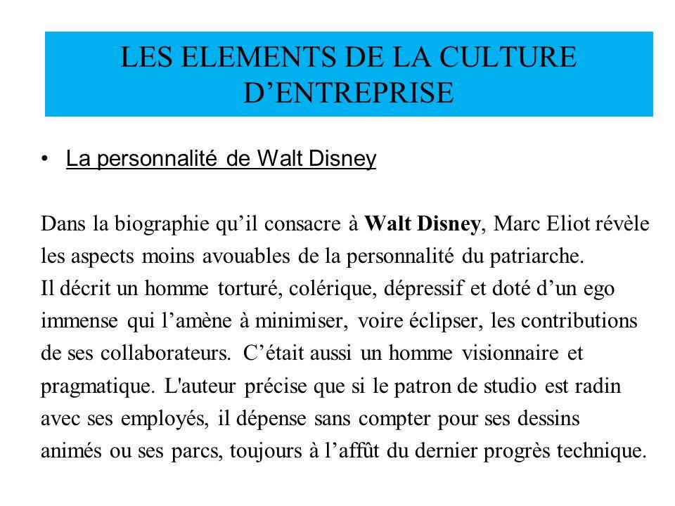 La personnalité de Walt Disney Dans la biographie quil consacre à Walt Disney, Marc Eliot révèle les aspects moins avouables de la personnalité du pat
