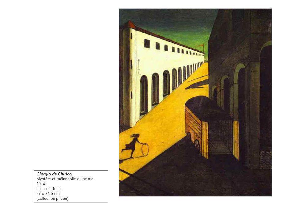 Giorgio de Chirico Mystère et mélancolie d'une rue, 1914 huile sur toile, 87 x 71,5 cm (collection privée)